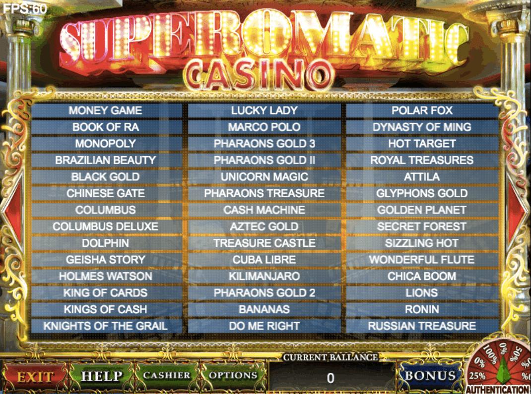 Игровые системы суперматик, гаминатор, казино казино авоматы
